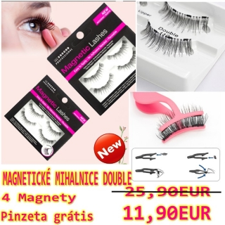 MAGNETICKÉ MIHALNICE Double 4 kusy + pinzeta gratis